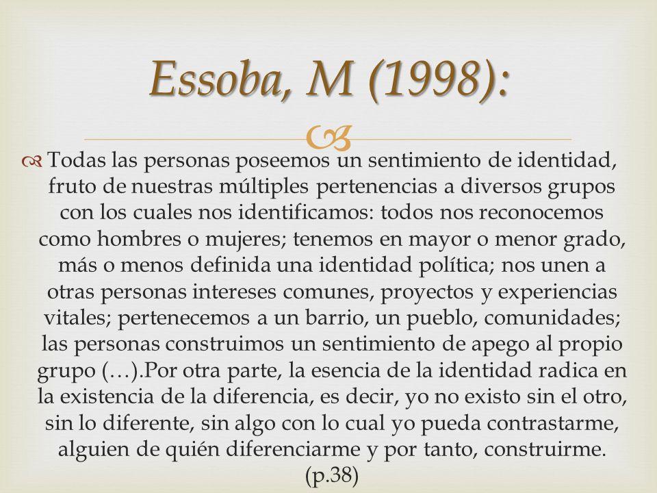 Essoba, M (1998):