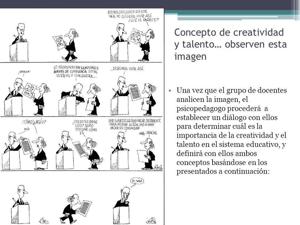Concepto de creatividad y talento… observen esta imagen