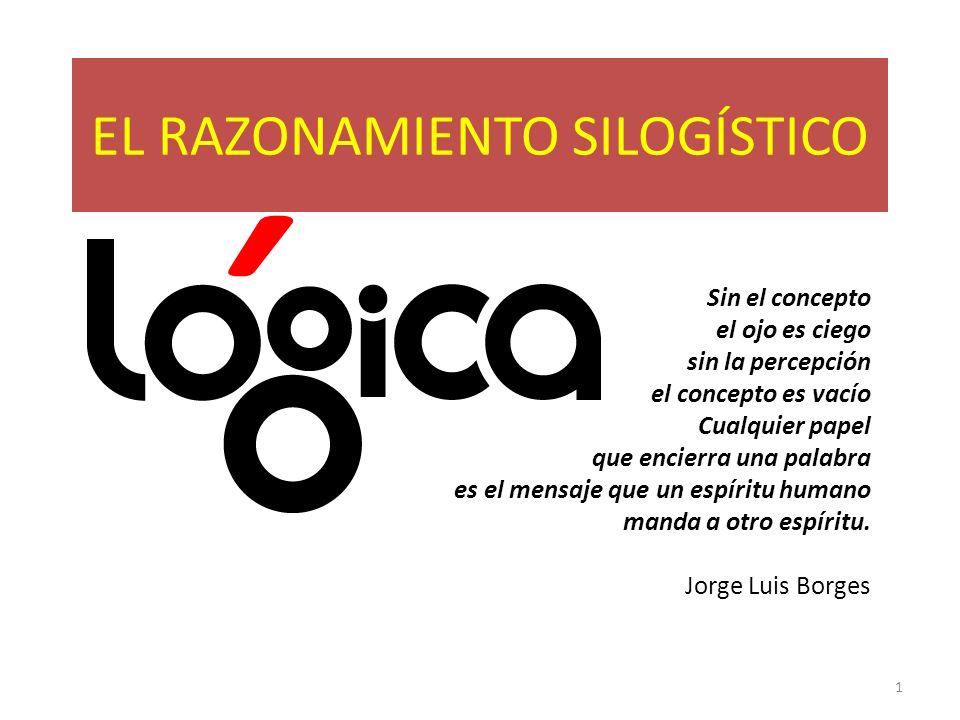 EL RAZONAMIENTO SILOGÍSTICO