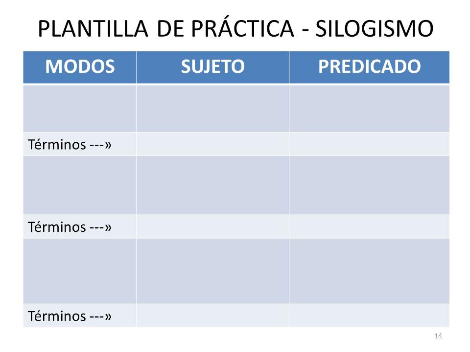 PLANTILLA DE PRÁCTICA - SILOGISMO