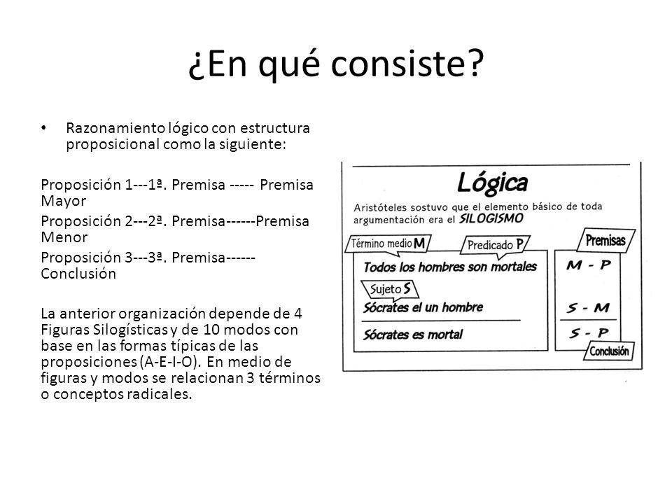 ¿En qué consiste Razonamiento lógico con estructura proposicional como la siguiente: Proposición 1---1ª. Premisa ----- Premisa Mayor.