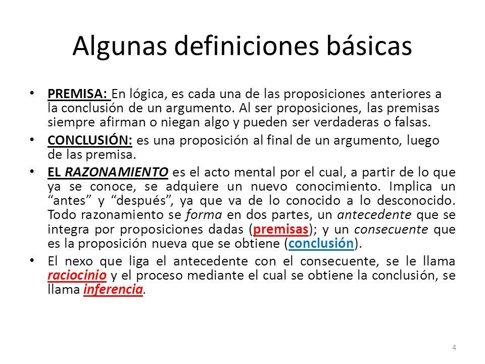 Algunas definiciones básicas
