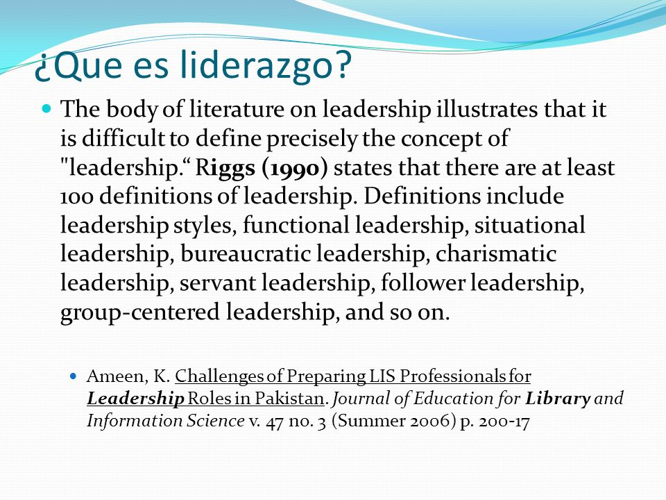¿Que es liderazgo