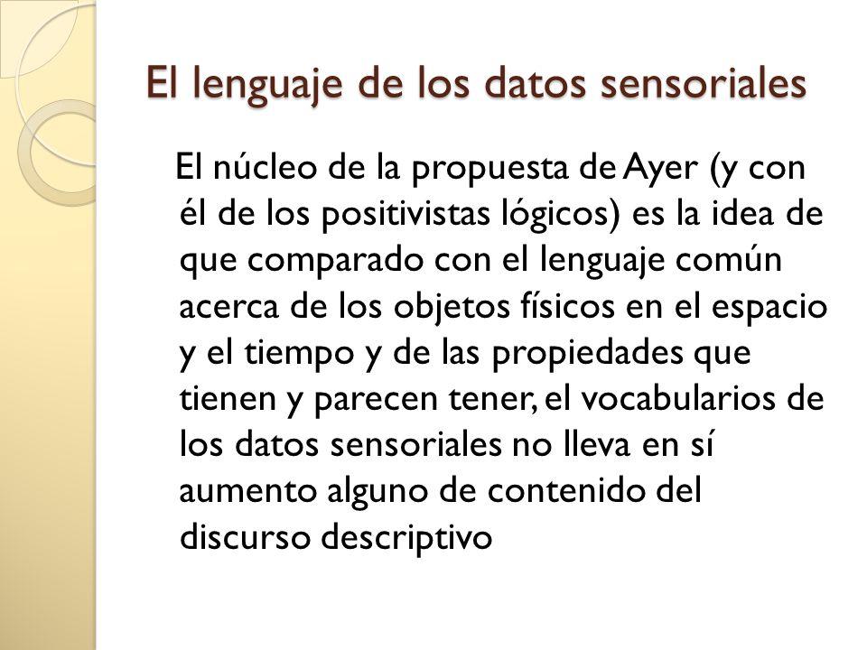 El lenguaje de los datos sensoriales
