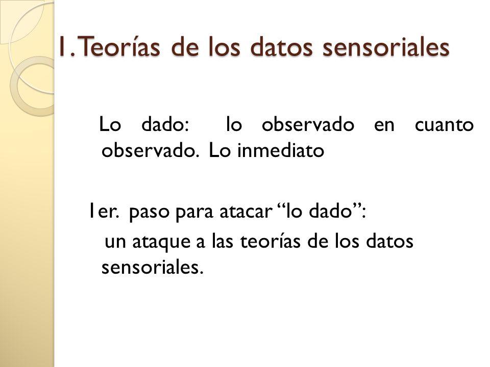 1. Teorías de los datos sensoriales