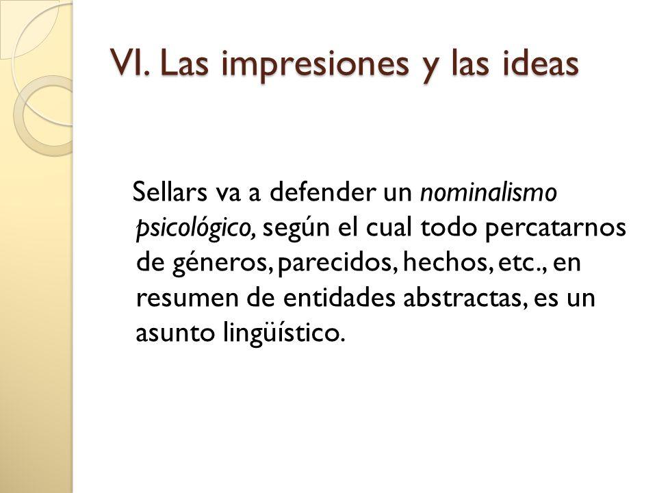 VI. Las impresiones y las ideas