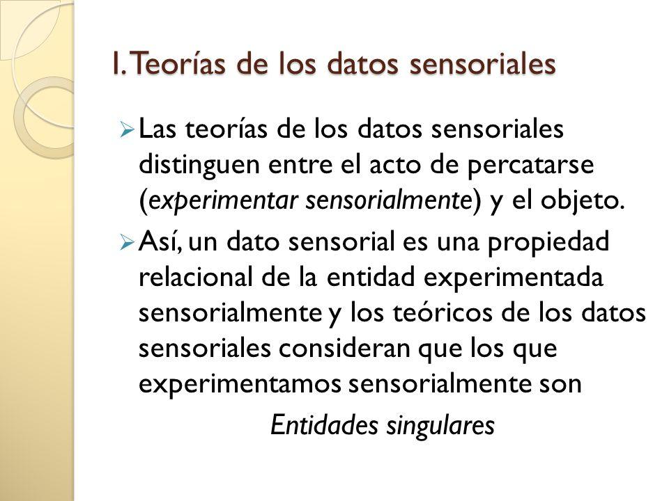 I. Teorías de los datos sensoriales