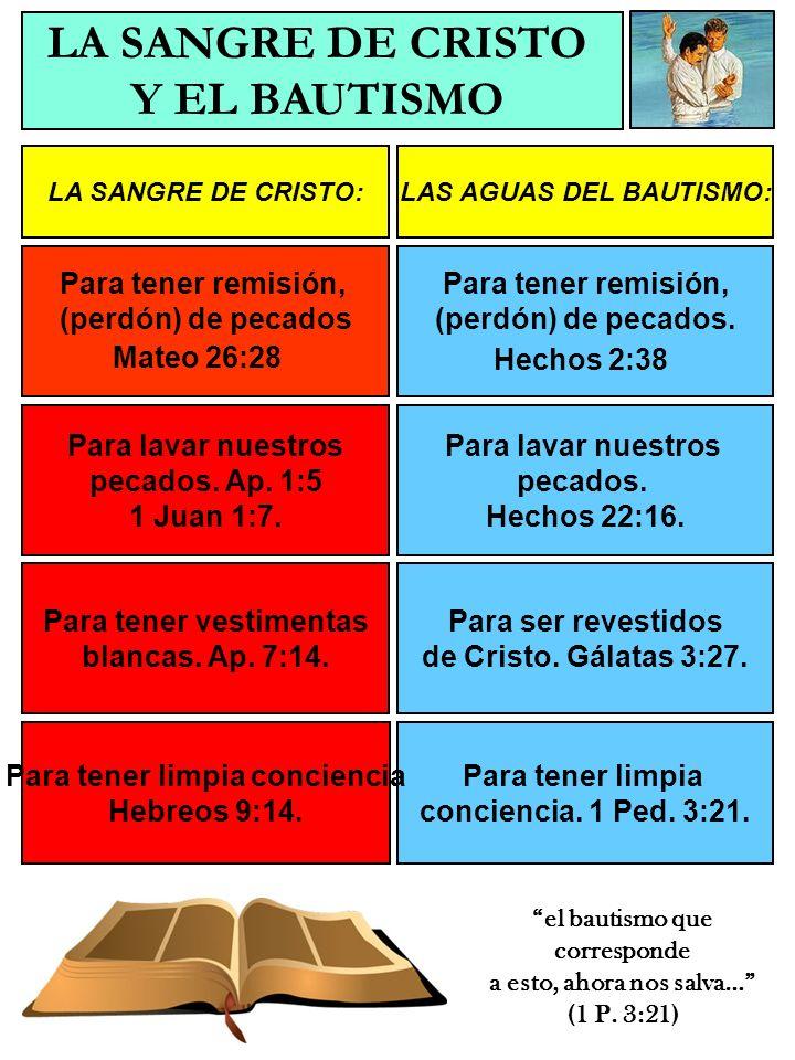 LA SANGRE DE CRISTO Y EL BAUTISMO