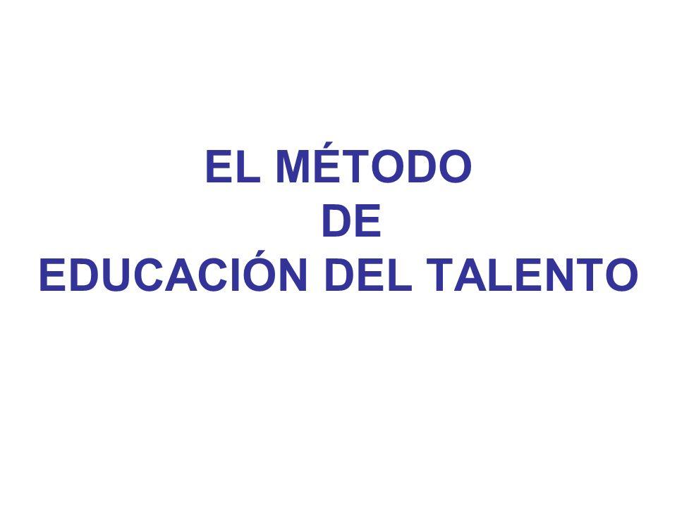 EL MÉTODO DE EDUCACIÓN DEL TALENTO