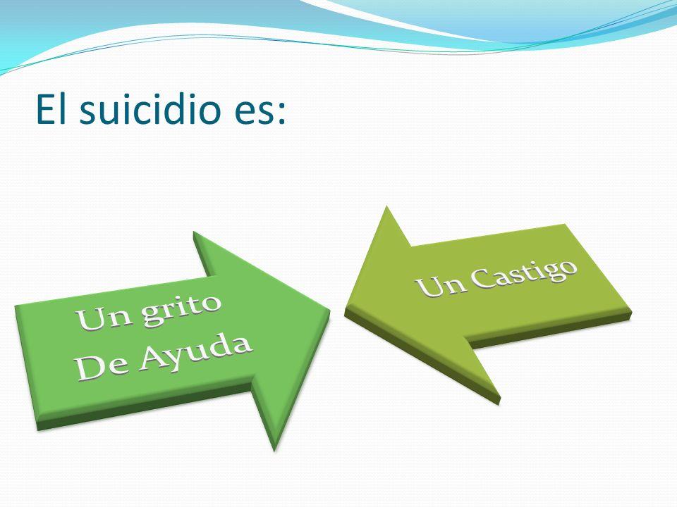 El suicidio es: De Ayuda Un grito Un Castigo