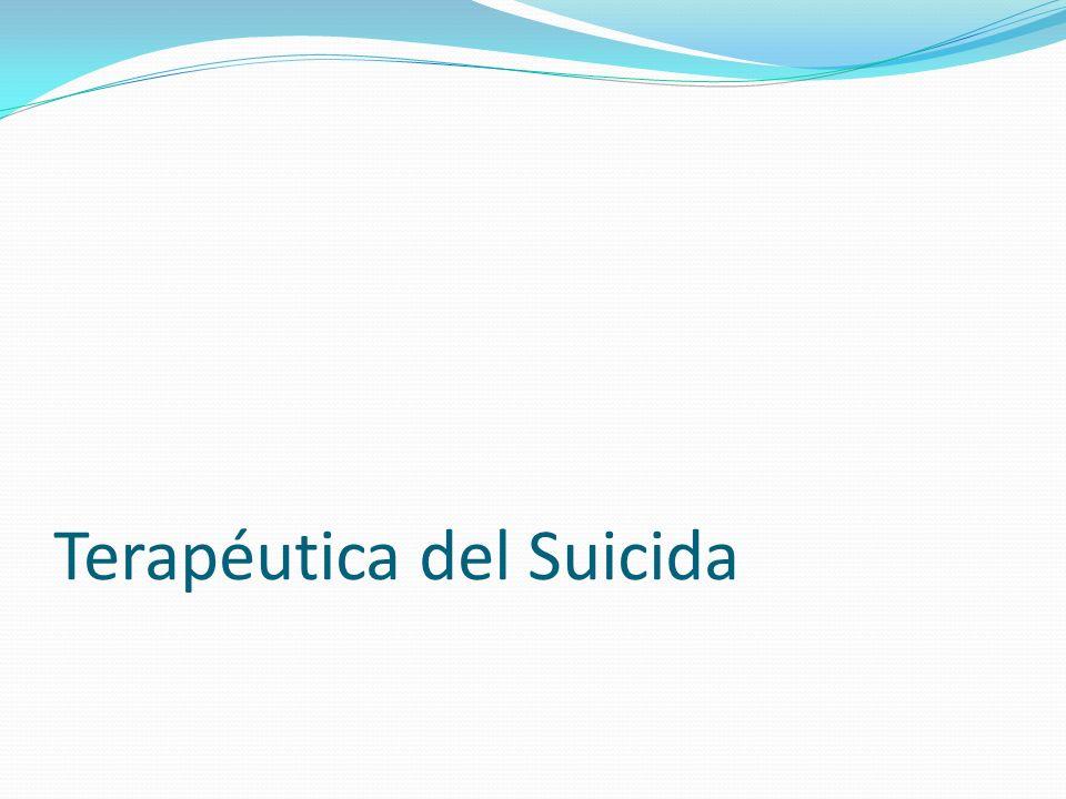 Terapéutica del Suicida