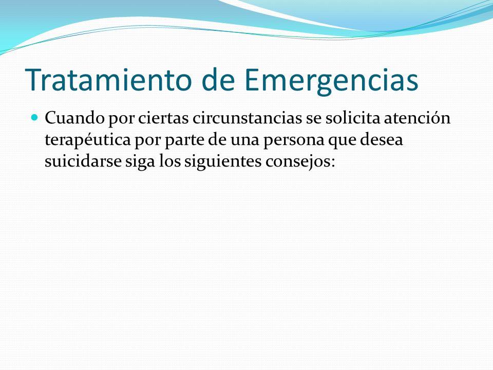 Tratamiento de Emergencias