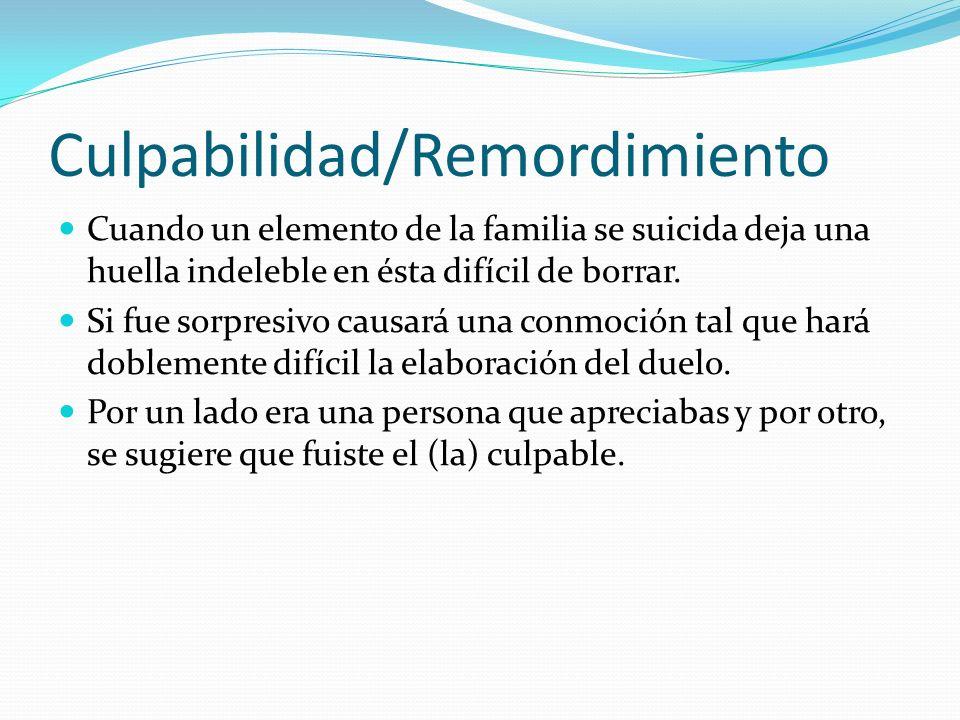 Culpabilidad/Remordimiento