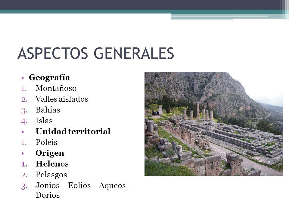ASPECTOS GENERALES Geografía Montañoso Valles aislados Bahías Islas