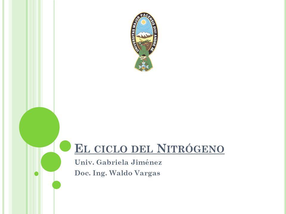Univ. Gabriela Jiménez Doc. Ing. Waldo Vargas