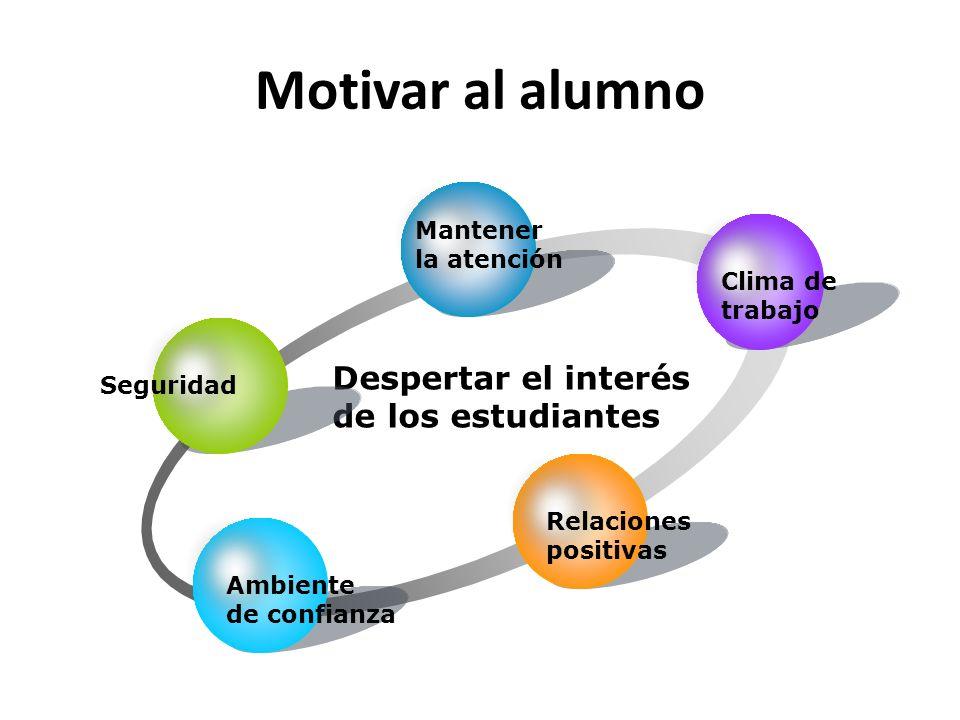 Motivar al alumno Despertar el interés de los estudiantes Mantener