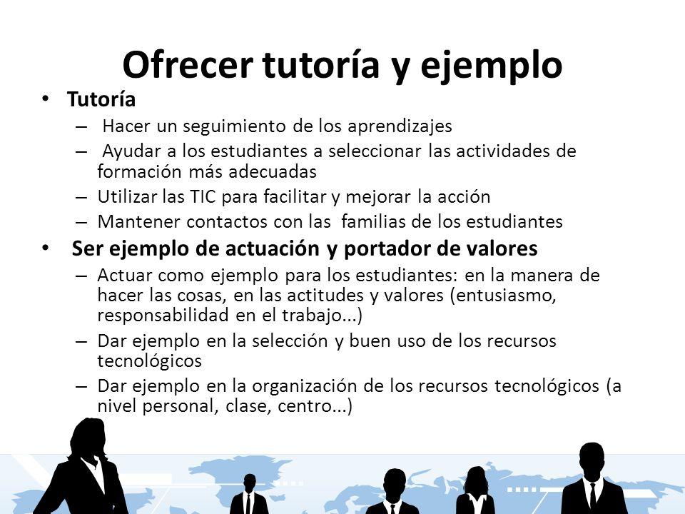 Ofrecer tutoría y ejemplo
