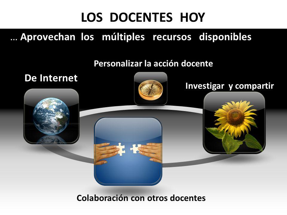 LOS DOCENTES HOY … Aprovechan los múltiples recursos disponibles