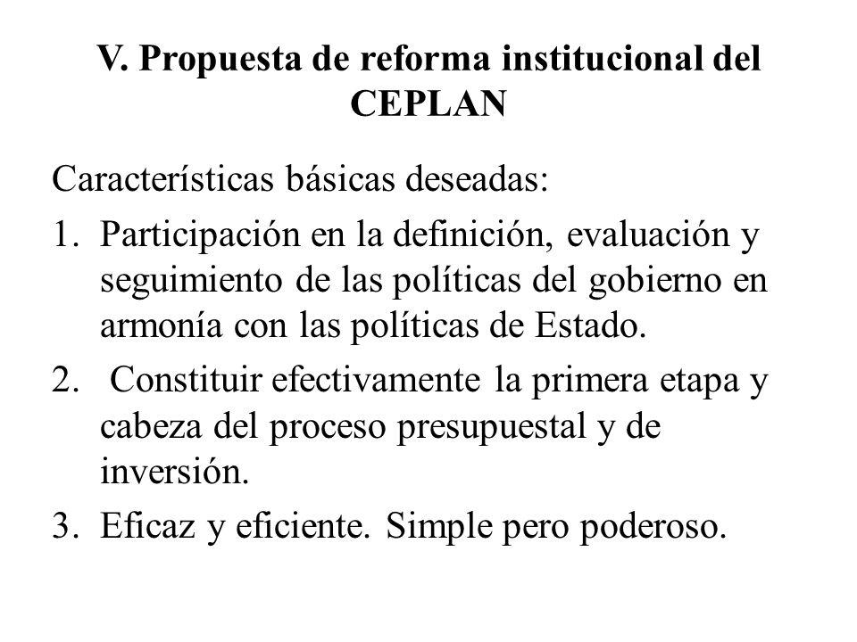 V. Propuesta de reforma institucional del CEPLAN