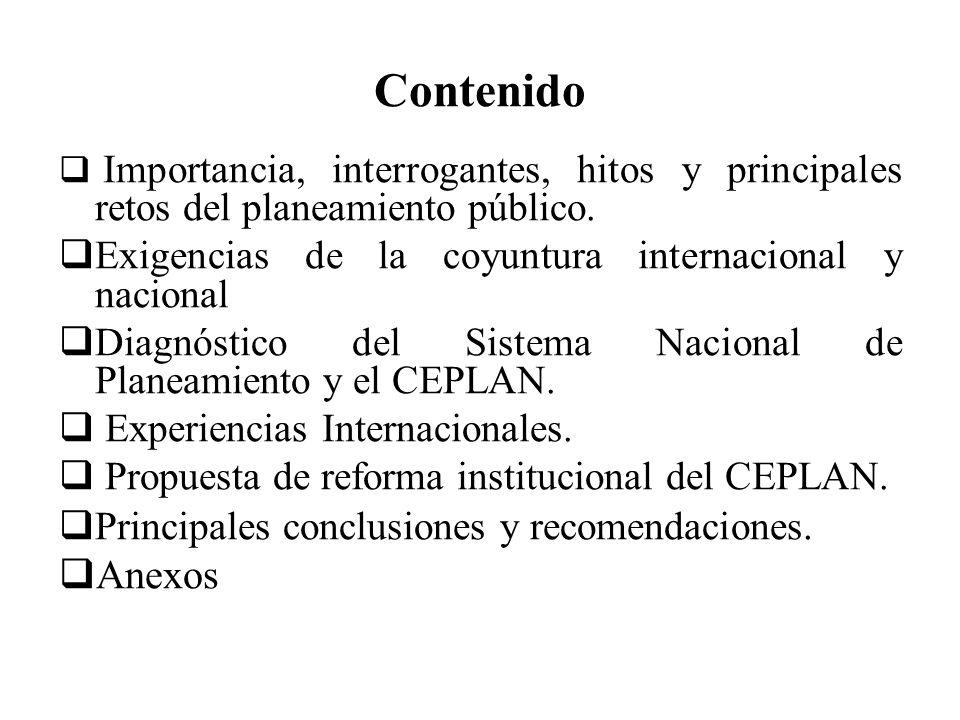 Contenido Anexos Exigencias de la coyuntura internacional y nacional