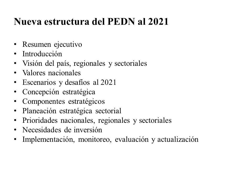 Nueva estructura del PEDN al 2021