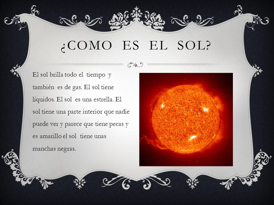 ¿Como es el sol