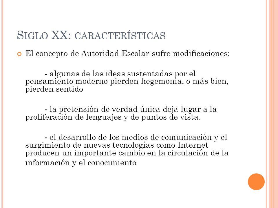 Siglo XX: características