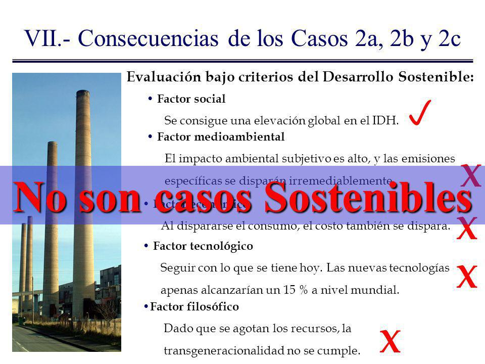 No son casos Sostenibles
