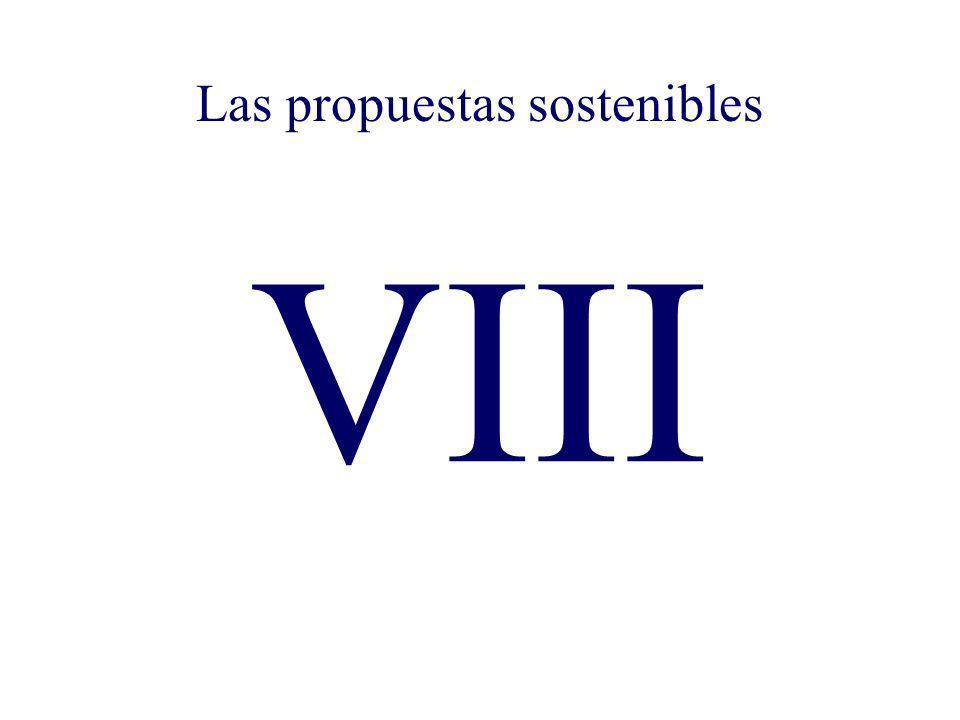 Las propuestas sostenibles