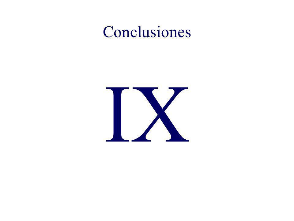 Conclusiones IX Conclusiones