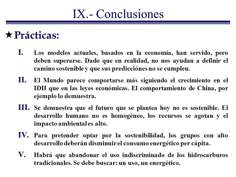 IX.- Conclusiones Prácticas: