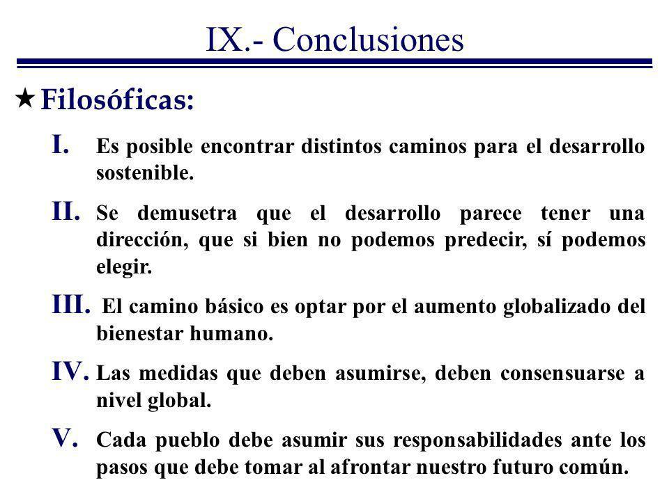IX.- Conclusiones Filosóficas: