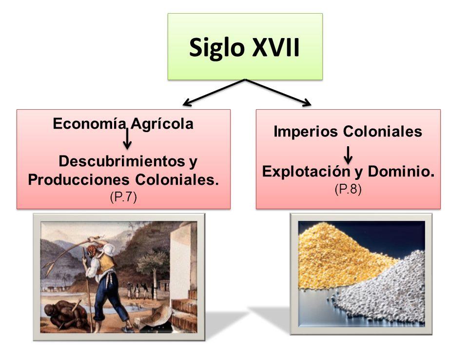 Siglo XVII Economía Agrícola Imperios Coloniales