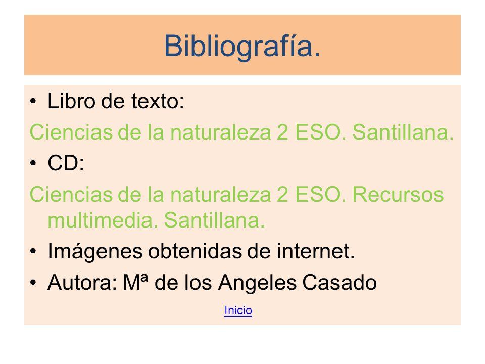Bibliografía. Libro de texto: