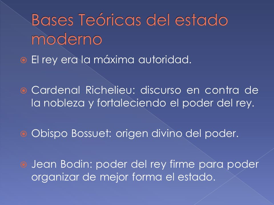 Bases Teóricas del estado moderno