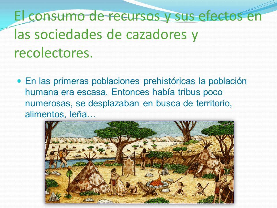 El consumo de recursos y sus efectos en las sociedades de cazadores y recolectores.