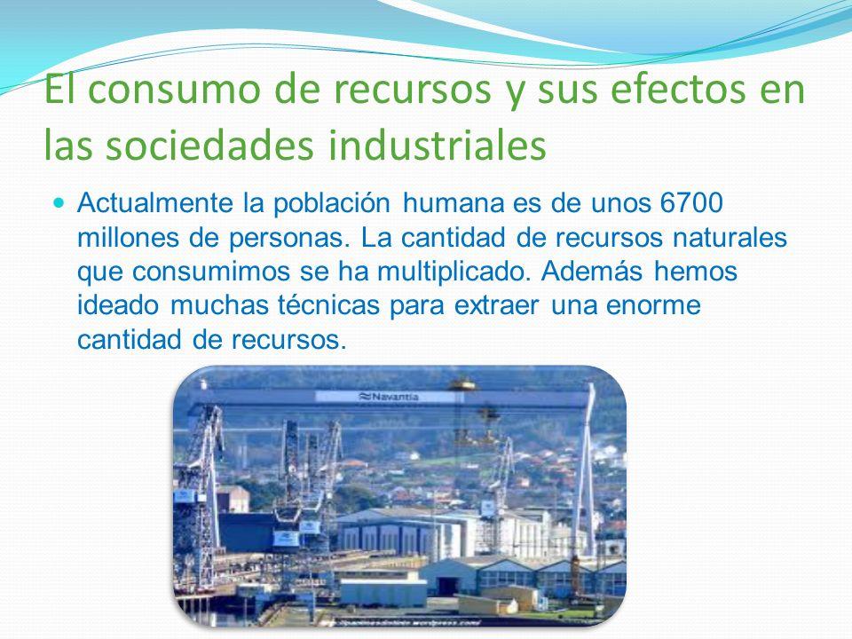 El consumo de recursos y sus efectos en las sociedades industriales