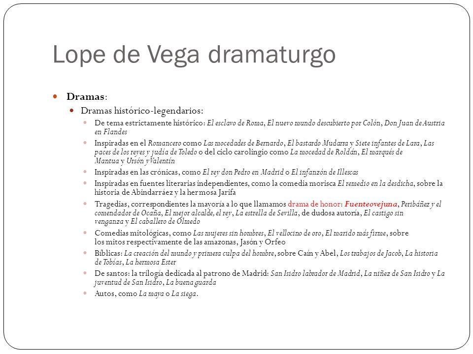 Lope de Vega dramaturgo