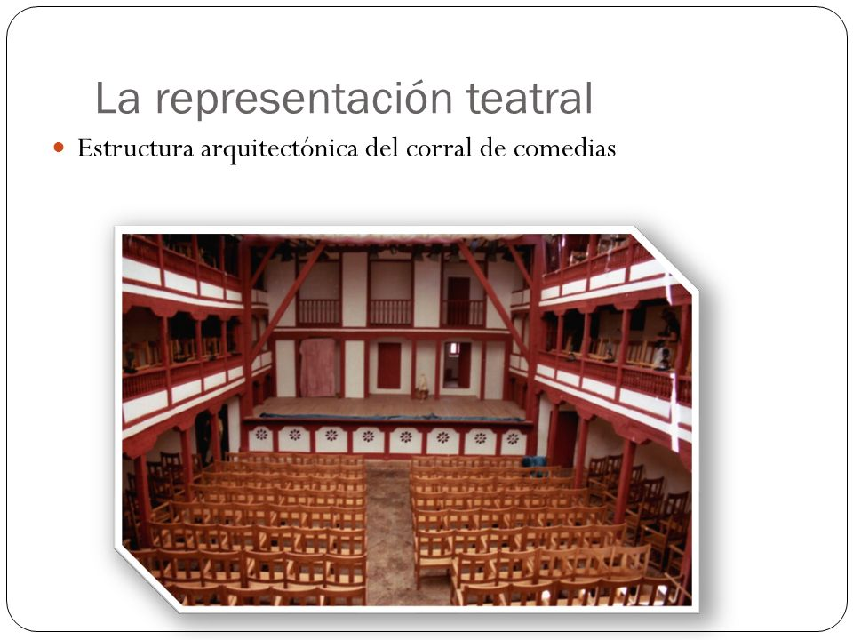 La representación teatral