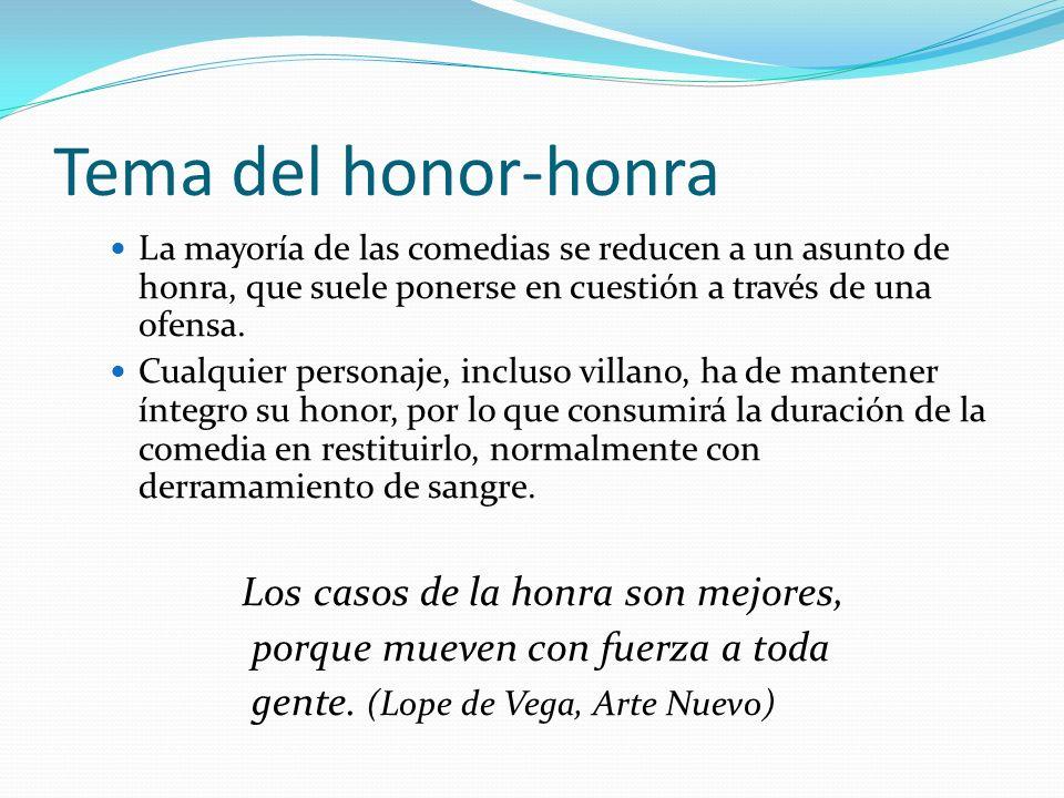 Tema del honor-honra Los casos de la honra son mejores,