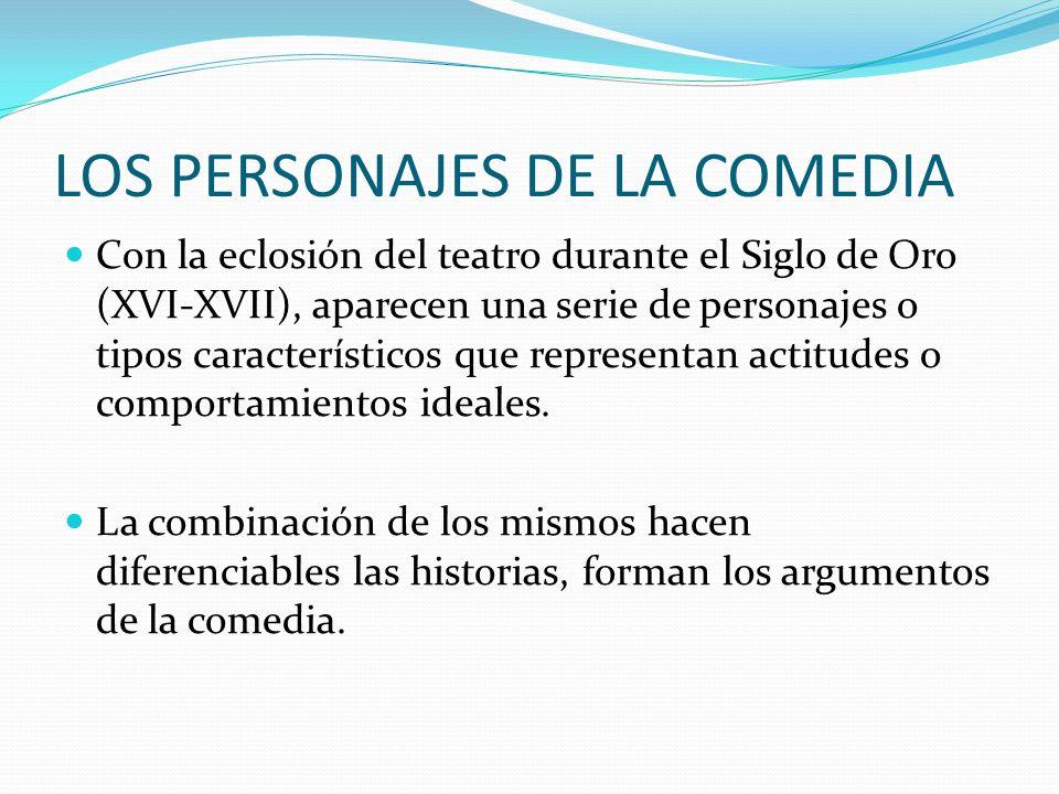 LOS PERSONAJES DE LA COMEDIA