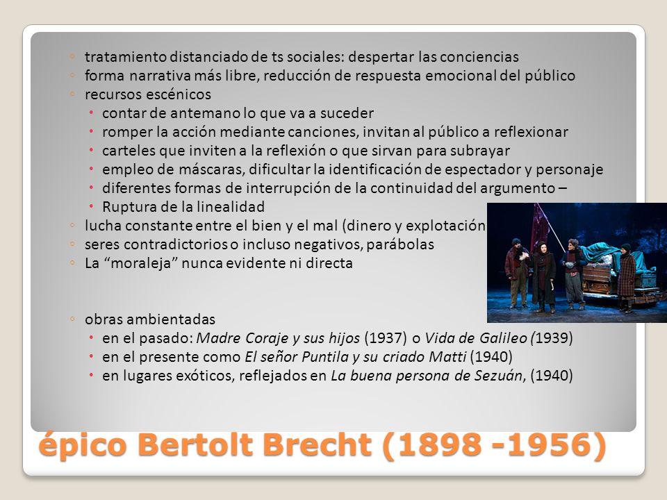 épico Bertolt Brecht (1898 -1956)