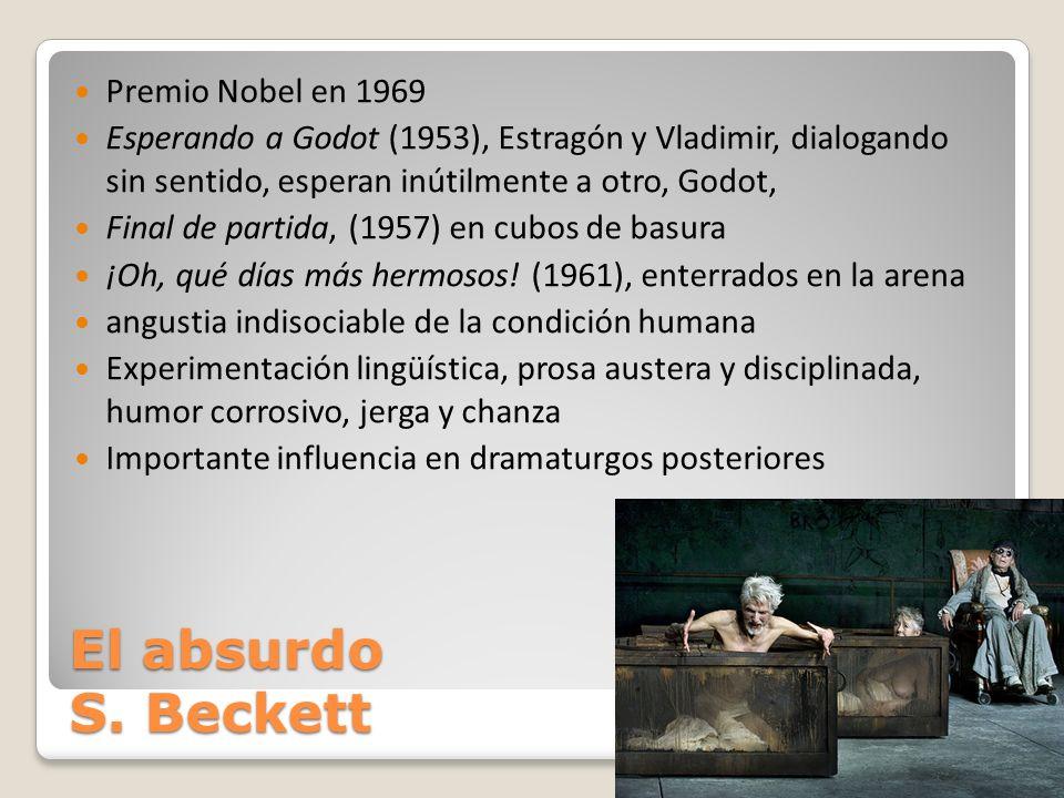 El absurdo S. Beckett Premio Nobel en 1969