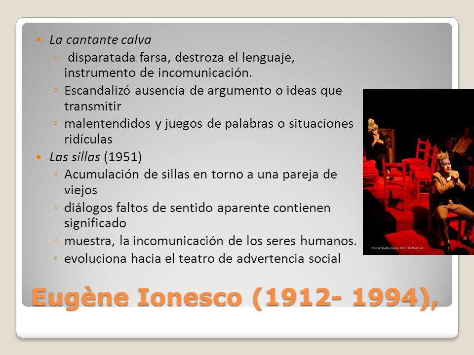 Eugène Ionesco (1912- 1994), La cantante calva