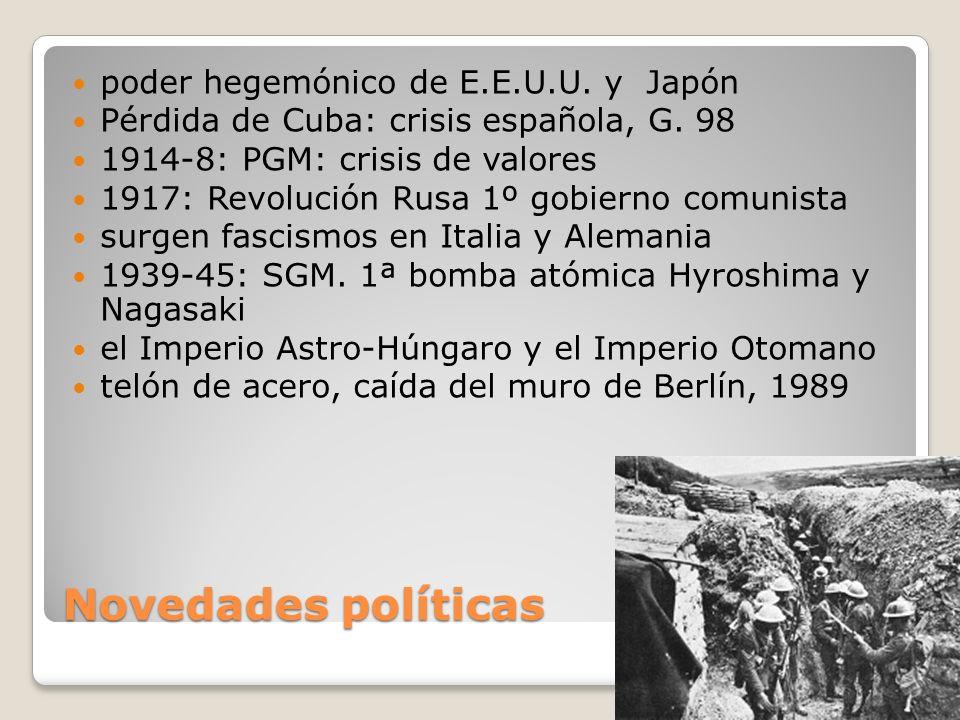 Novedades políticas poder hegemónico de E.E.U.U. y Japón
