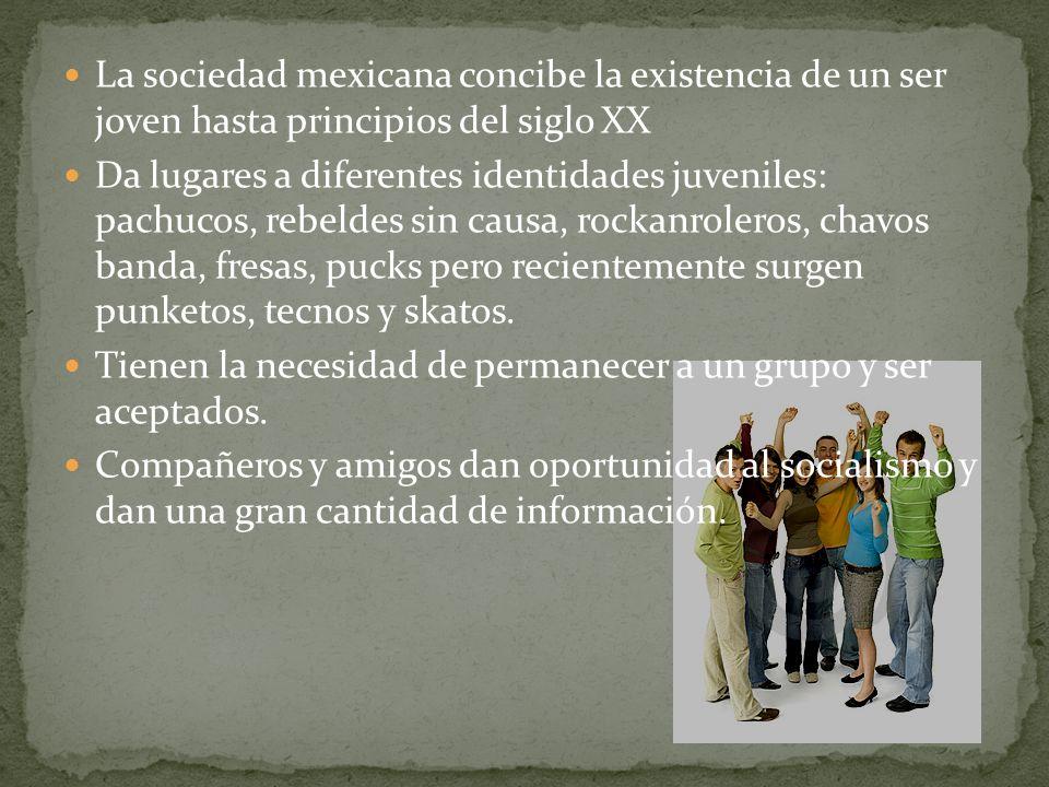 La sociedad mexicana concibe la existencia de un ser joven hasta principios del siglo XX