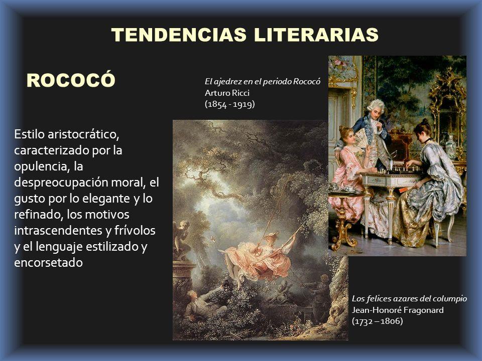 TENDENCIAS LITERARIAS