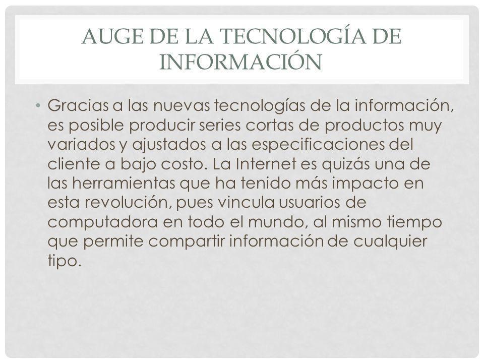 Auge de la tecnología de información