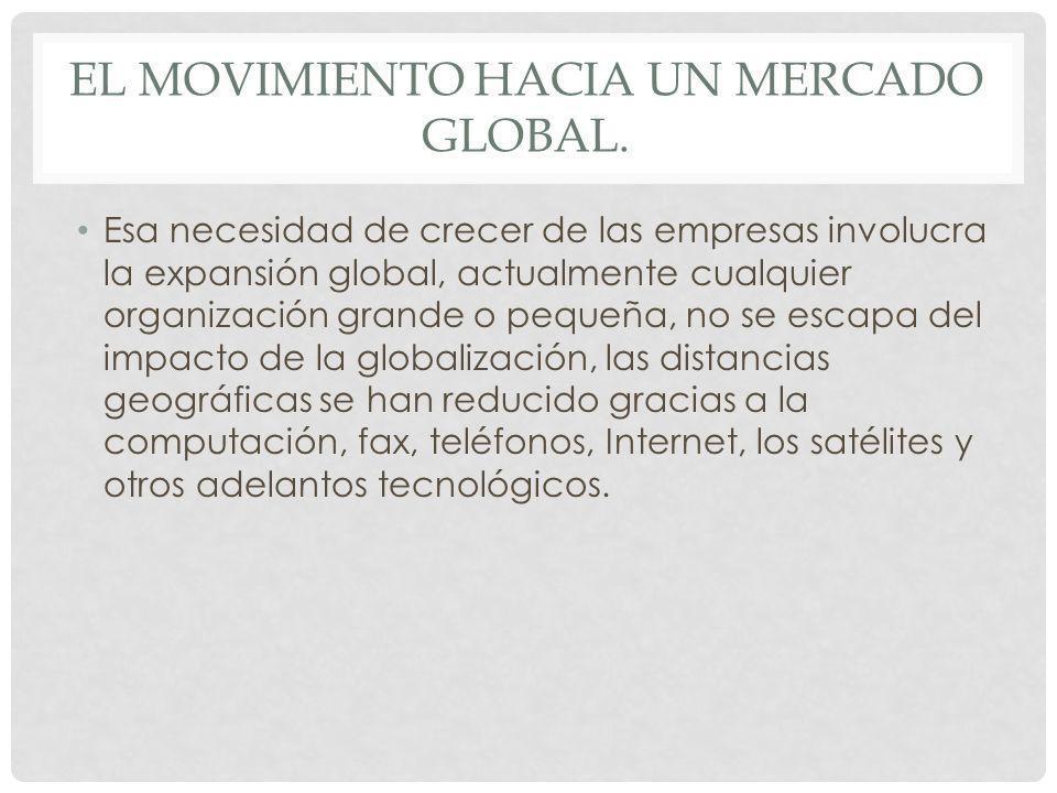 El movimiento hacia un mercado global.