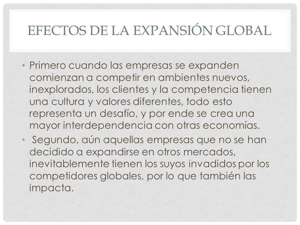 Efectos de la expansión global